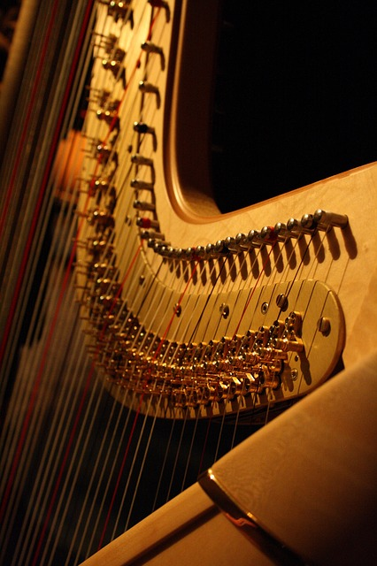 Harp, Music, Musical Instrument