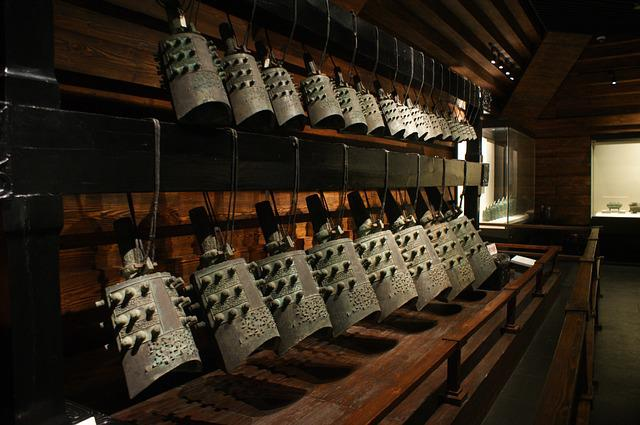 Henan Museum, Musical Instruments, Chime Bells, Bronze