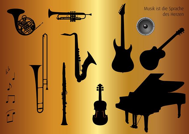 Icon Set, Musical Instruments, Music, Horn, Trombone