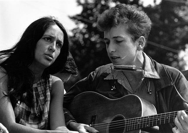 Bob Dylan, Musician, Joan Baez, Singer, 1960s, Composer