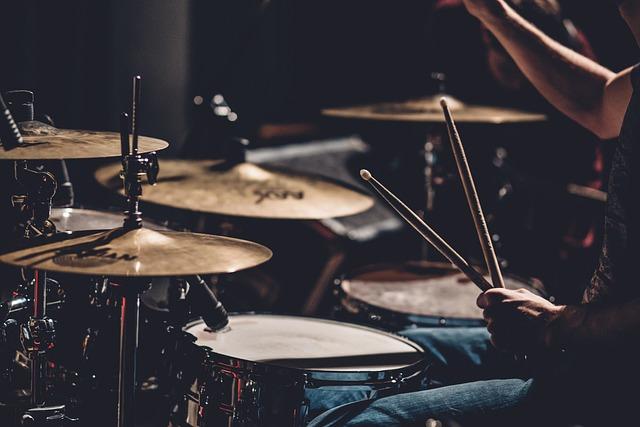 Drums, Set, People, Man, Concert, Musician, Musical