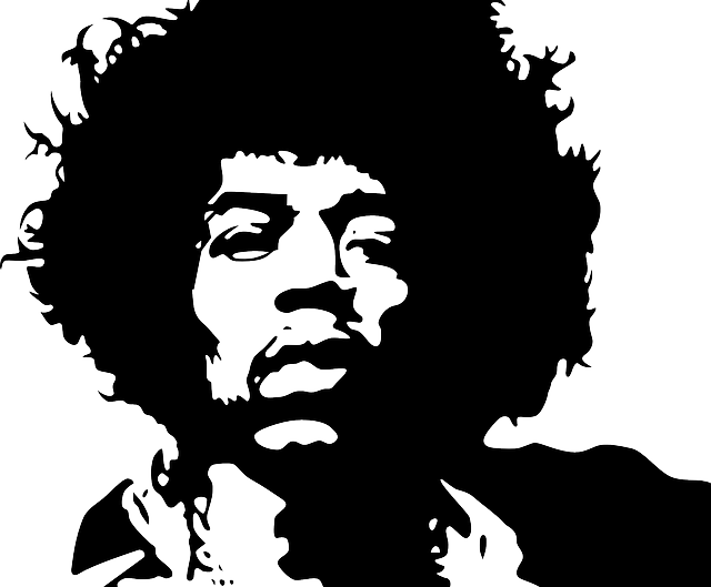 Musician, Jimmy Hendrix, Rock, Black, Famous, Guitar
