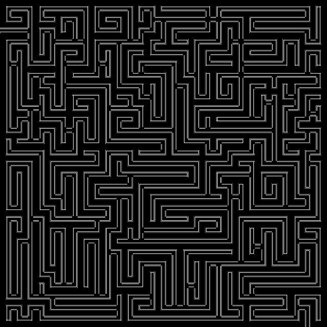 Labyrinth, Maze, Meander, Orientation, Way, Muster