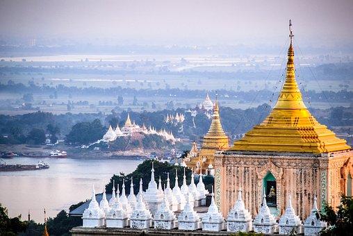 Mandalay, Burma, Pagoda, Temple, Myanmar, Stupa