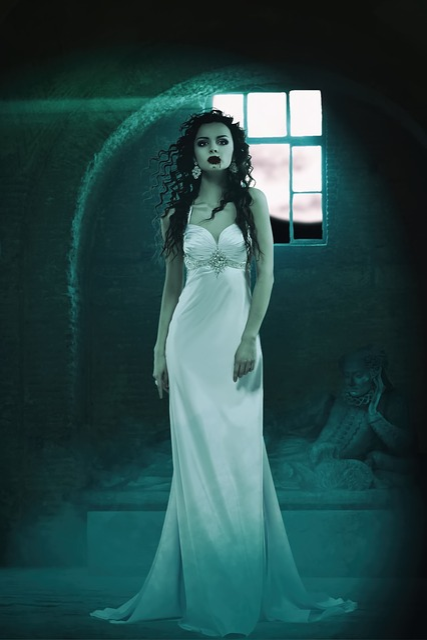 Vampire, Ruins, Halloween, Horror, Scary, Mystery