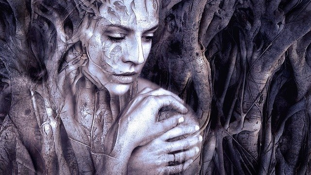Composing, Woman, Fantasy, Face, Beauty, Mystical, Root
