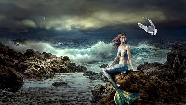 Mermaid, Fantasy, Mystical, Nature, Sea, Beautiful