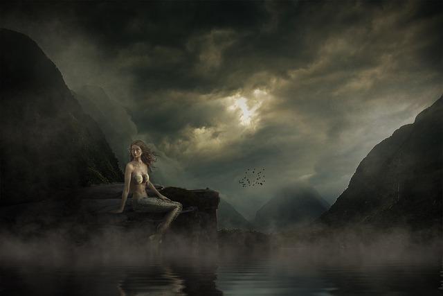 Mermaid, Landscape, Mood, Mystical, Water, Mysticism