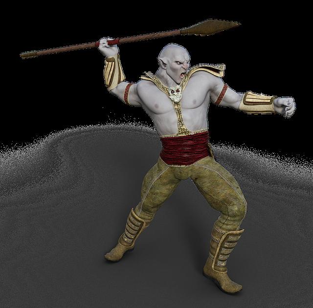 Ork, Warrior, Spear, Fantasy, Mythical Creatures