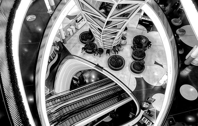 Frankfurt, Myzeil, Stairs, Frankfurt Am Main Germany