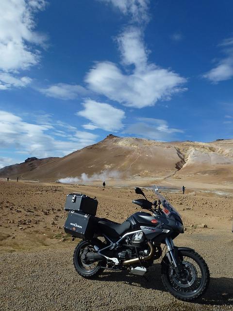 Moto, Moto Guzzi, Iceland, Namafjall