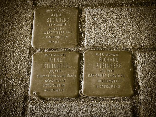 Memorial, Stumbling Blocks, Holocaust, Name, Stones