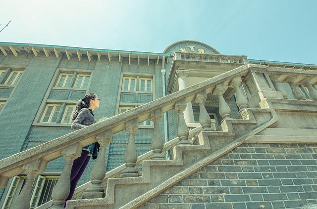 Stairs, East, Nanjing, Building, Woman, Architecture