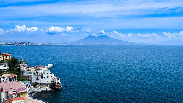 Italy, Naples, Vezuv, Sea