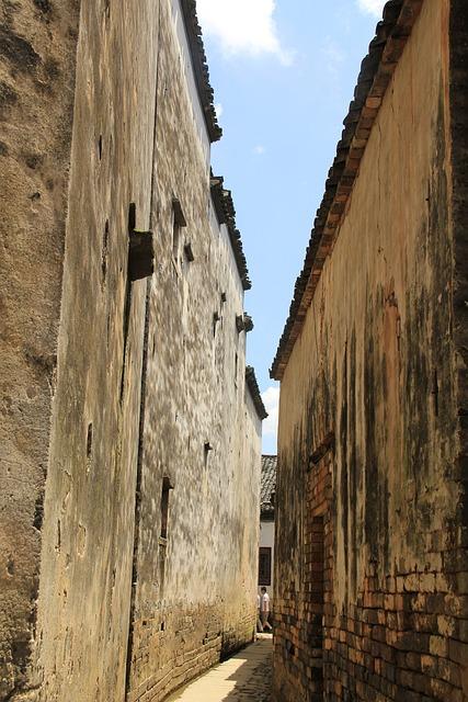 Alley, House, Street, Narrow, Slum, Brick, Cityscape