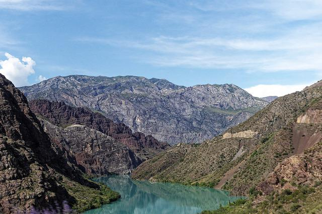 Kyrgyzstan, The Ferghana Valley, Naryn, River, Water