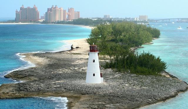 Lighthouse, Bahamas, Nassau, Island, Atlantis, Hotel