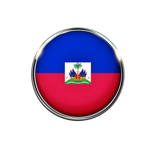 Haiti, Flag, Circle, Red, National, Nation, Country