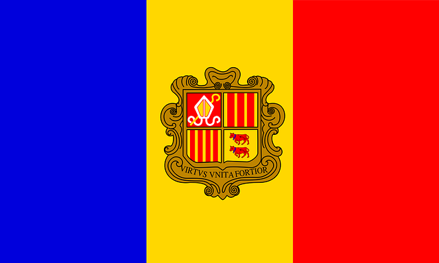 Andorra, Flag, Symbol, Sign, Nation