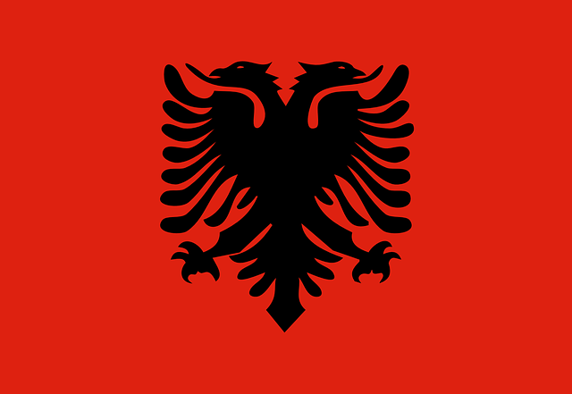 Albania, Flag, National, Symbol, Country, Albanian