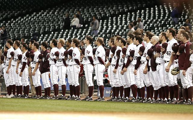 Baseball Team, National Anthem, Pregame