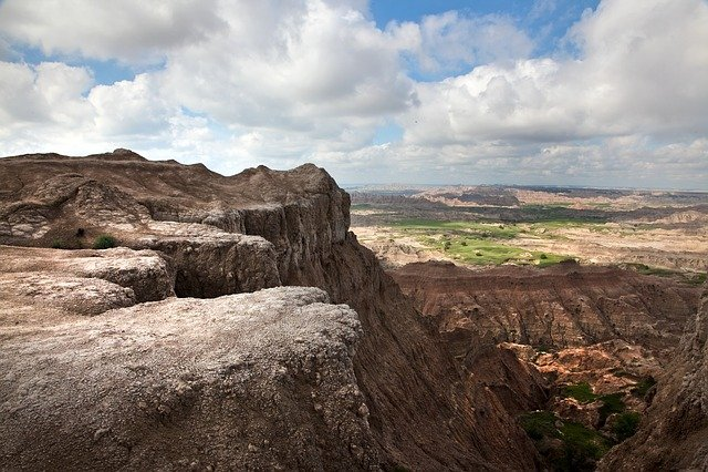 Wyoming, Badlands, Montana, Landscape, National, Rocky