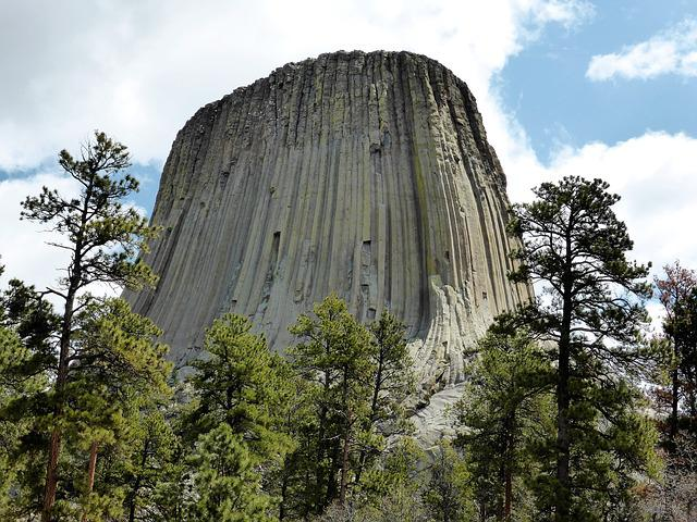 Nature, Rock, National Park, Devil's Tower, Landscape