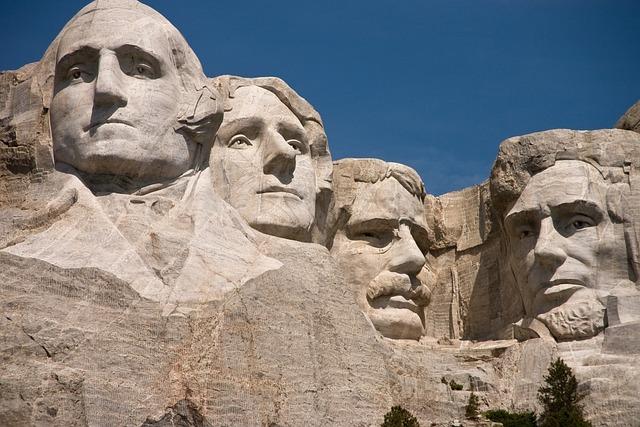 Rushmore, Monument, National, Dakota, Washington