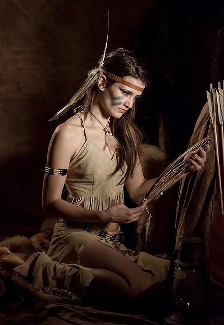 Squaw, American Indian, Native American, Girl, Woman