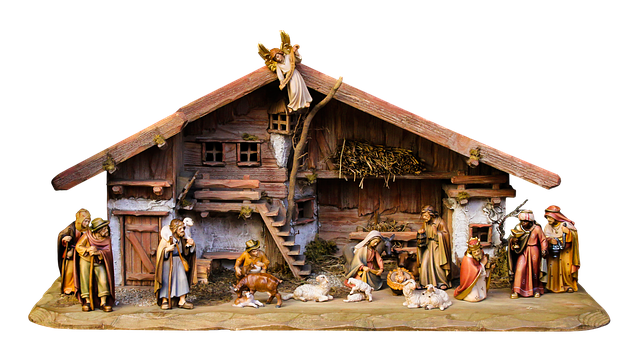 Christmas, Nativity Scene, Crib, Png, Father Christmas