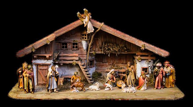 Christmas, Nativity Scene, Crib, Png, Father Christmas