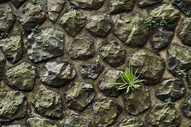 wall stone stone wall masonry grey natural stone