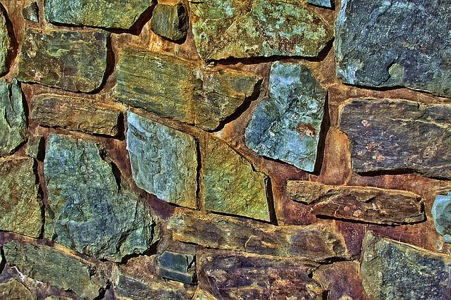 Stone Wall, Natural Stones, Wall, Masonry