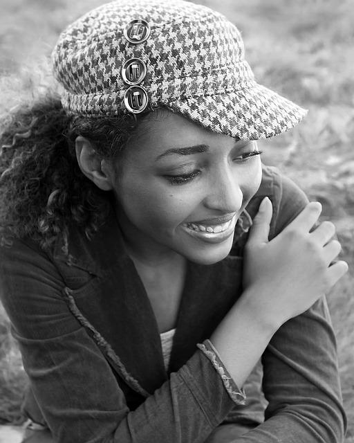 Young, Teenager, Girl, Woman, Natural, Hat, Smile