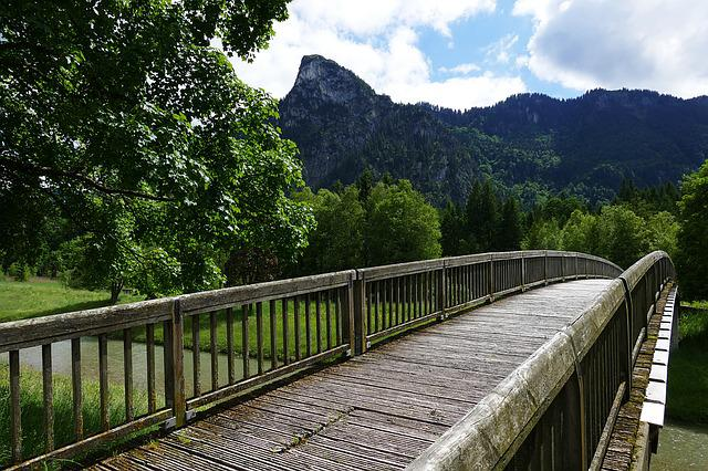 Bridge, Web, Boardwalk, Mountain, Alpine, Nature, Away