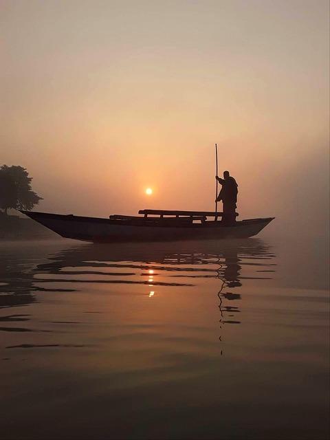 Sun, Set, Nature, Bangladesh