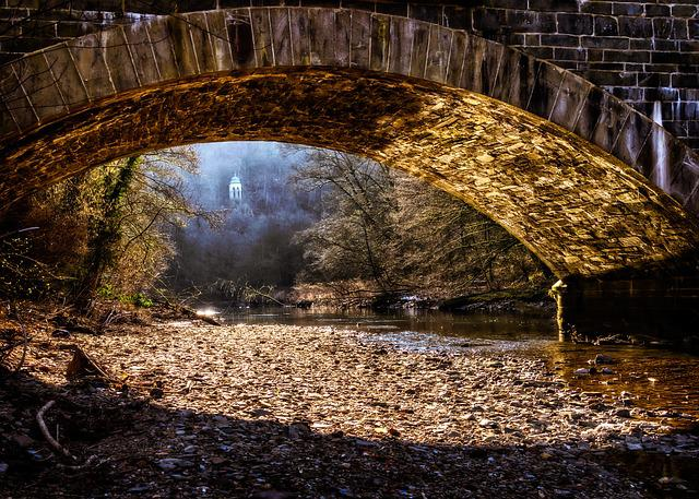 Bridge, River, Nature, Bank, Riverbed, Pebble, Water