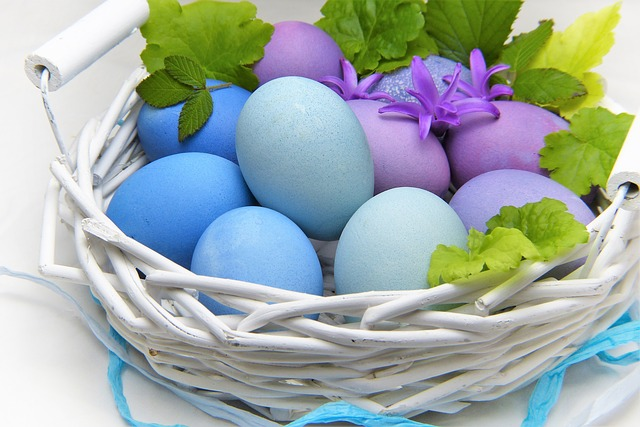 Easter, Egg, Basket, Food, Nature, Healthy, Leaf