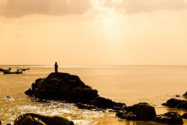 Sea, Fishing, Beach, Nature, Glow, Sky, Phuket