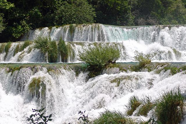Croatia, Dalmatia Waterfalls, Skradin, Nature, Cascades