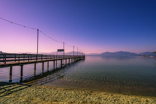 Web, Mystical, Chiemsee, Bridge, Boardwalk, Nature
