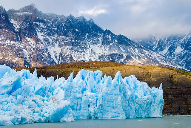 Chile, Patagonia, Glacier, Ice, Iceberg, Rough, Nature