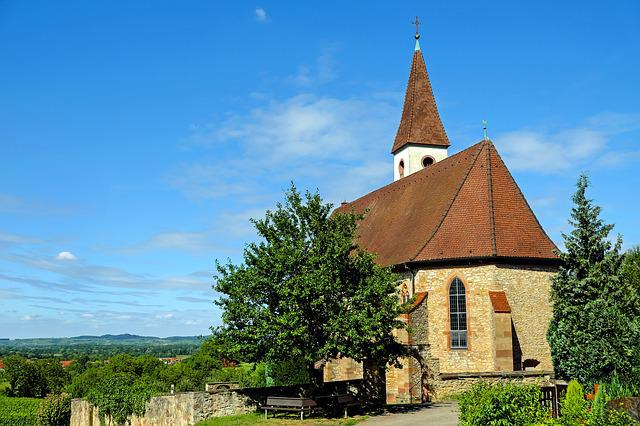 Church, Mountain Church, Landscape, Nature, Kaiserstuhl