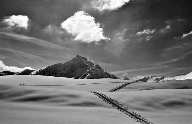 Touring Skis, Nature, Snow, Mountain, Winter, Cloud