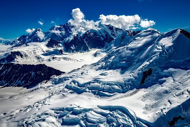 Alaska, Glacier, Snow, Ice, Sky, Clouds, Winter, Nature