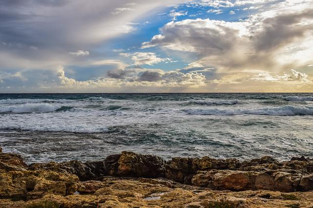 Sea, Sky, Clouds, Nature, Landscape, Seashore, Beach