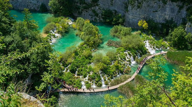 Croatia, Lake, Waterfall, National Park, Nature