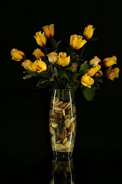 Flowers, Vase, Sassi, Dark, Flower, Vases, Nature