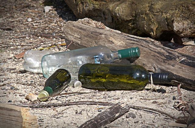 Glass, Bottles, Garbage, Disposal, Environment, Nature