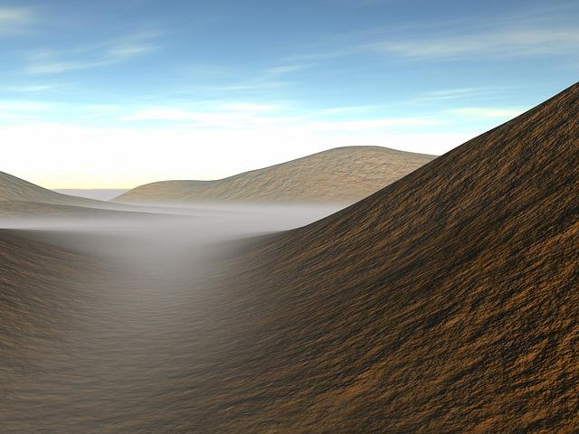 Landscape, Fog, Dunes, Rising Fog, Mood, Nature